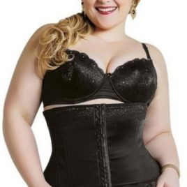 3075-B Espartilho c/12 barbatanas Plus Size